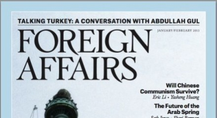 Foreign Affairs 2013 top